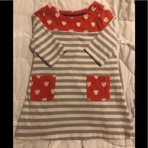 Mini Boden striped & Heart dress